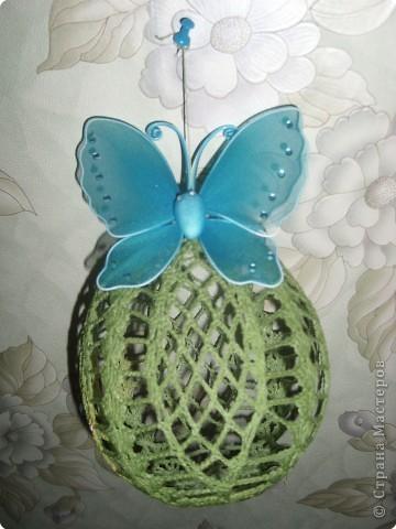 Зелёный шар- это типа цветка, мне так придумалось!  фото 1