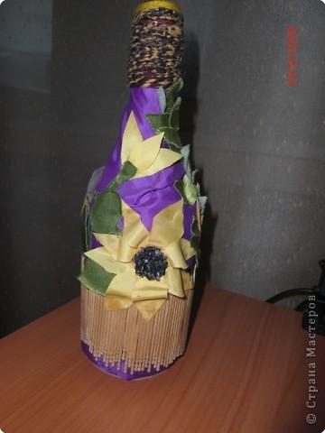 Декорирование бутылок фото 1