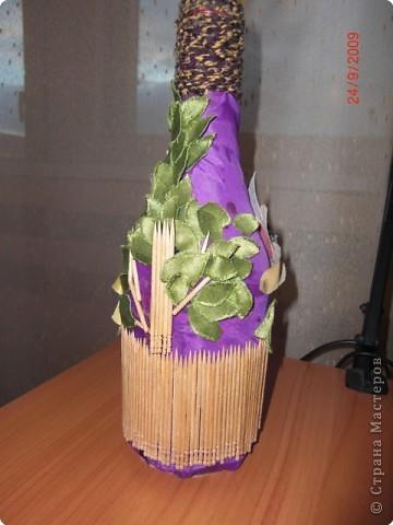 Декорирование бутылок фото 2