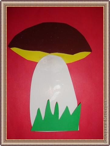 Мухоморчик комочки из пластилина (мозаика) Старшая группа №3 Смирнова Аня фото 2