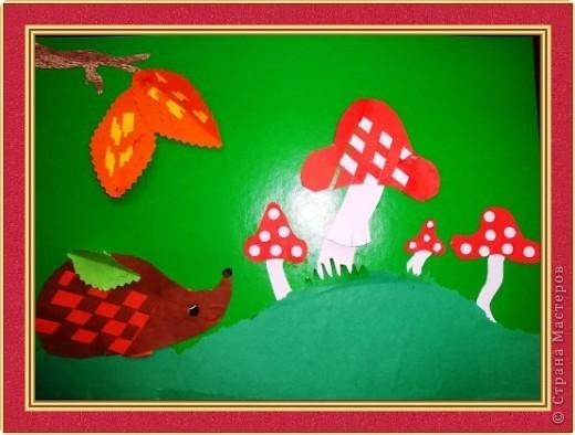 Мухоморчик комочки из пластилина (мозаика) Старшая группа №3 Смирнова Аня фото 3