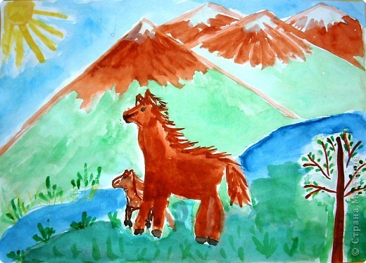 Прогулка лошадей