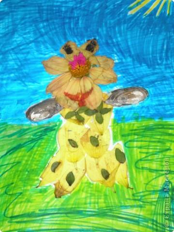 Все лето маме помогала выращивать цветы в саду. Каких только цветов нет у нас! Это и тюльпаны, и лилии, и ромашки, и розы, и гладиолусы. Полью цветы и бегу на речку купаться и собирать ракушки. У меня их набралась уже целая коллекция. Вот и решила в память о лете сделать цветочного человечка. фото 1
