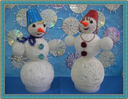 Снеговик и Снежанна. фото 1