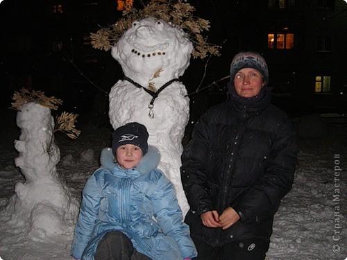 Снеговая семейка коллективная работа всей семьи