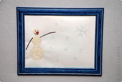Снеговик и Большая снежинка фото 1