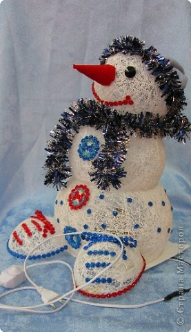 Светильник «Весёлый Снеговичок»