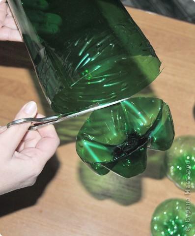 1.Беру пластмассовые зеленые бутылки. фото 3