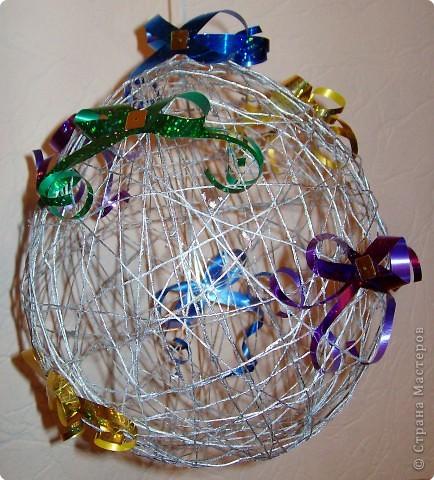 Вот такие  новогодние шары у меня получились.  фото 3