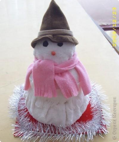 Снеговичок-махровый бочок
