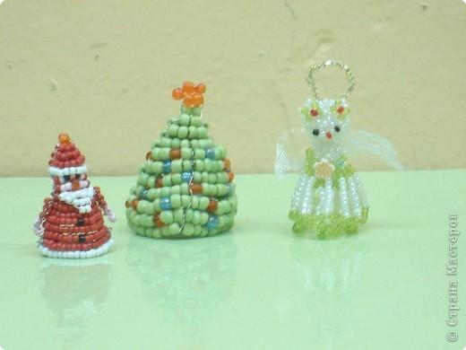 Елочные игрушки из бисера