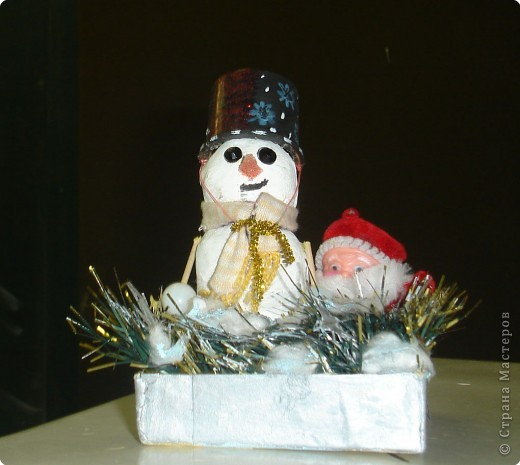 "Подарок папе ""Снеговичок и Дед Мороз"" фото 1"