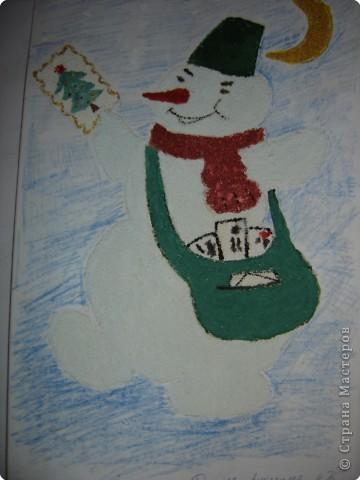 Почтальон- снеговичок.