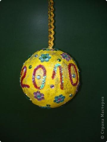 Новогодний шар (папье-маше).