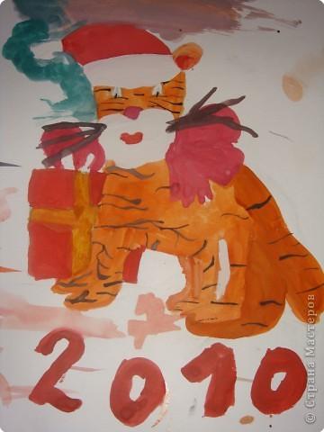 Тигруля и его друг Снеговичок фото 1