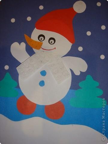 Новогоднее поздравление Снеговика