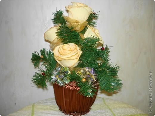 Цветы сделаны в подарок нашему директору. фото 2