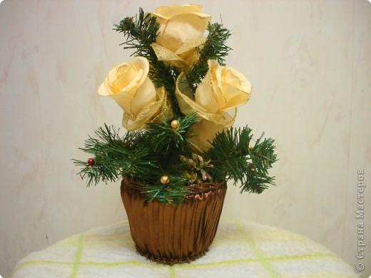 Цветы сделаны в подарок нашему директору. фото 3