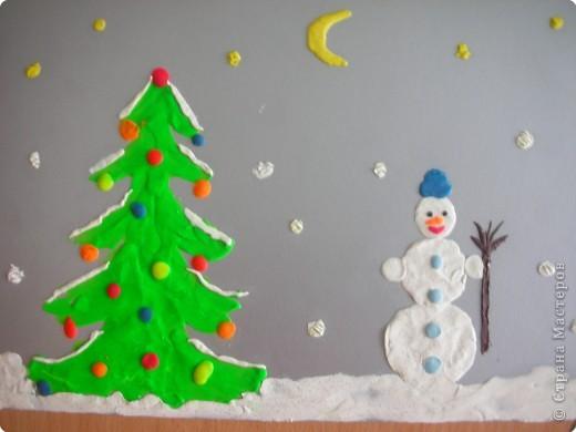 Дворник - снеговик