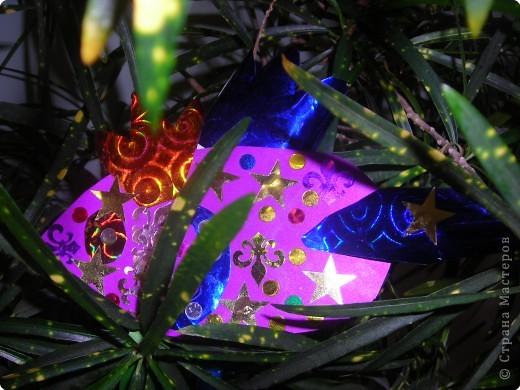 Ёлочные игрушки бывают разные (шарики. хлопушки, зайцы, снежинки и др.), а мы решили сделать на нашу ёлку золотых рыбок. ведь золотая рыбка  исполняет желания. фото 3