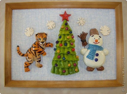 Снеговичок и тигренок