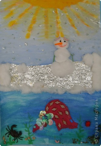 Снеговик на катке