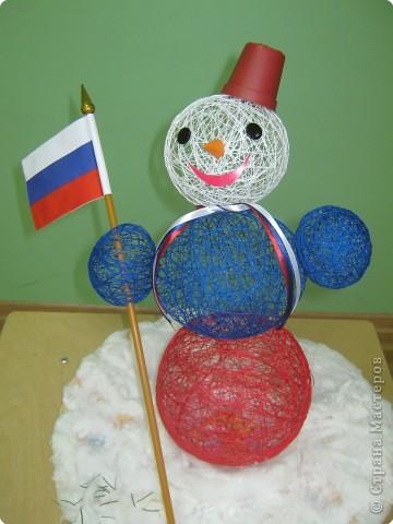 Российский снеговик.