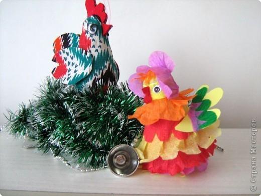 Петушок и курочка - подарок для школьной елки. фото 1