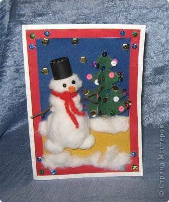 Веселый снеговичок.