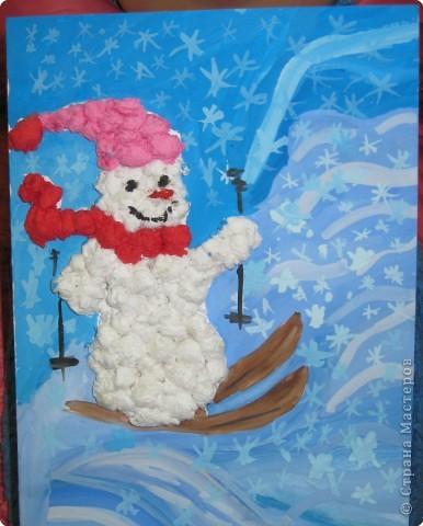 Снеговик-спортсмен