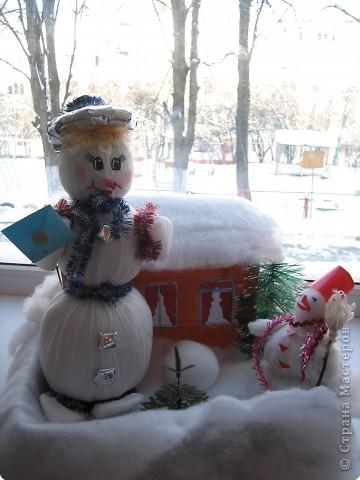Снеговик с другом