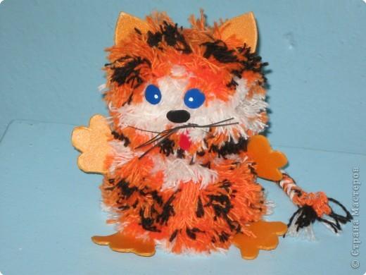 """Я рыжий тигрёнок Пришёл к Вам на праздник Всех укушу я, кто меня дразнит. Не подходи, я виляю хвостом. Со мной не играй, Как с домашним котом. Я вместо """"мяу"""" пугаю всех рыком, А если погладить я тоже мурлыка. фото 1"""