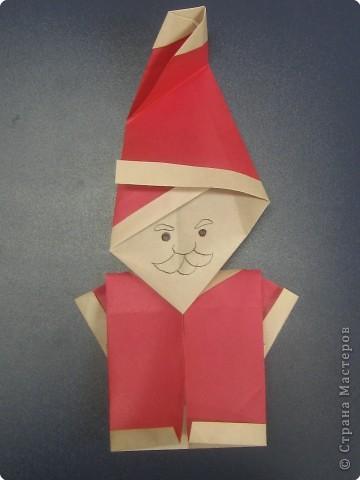 Дед Мороз, оригами
