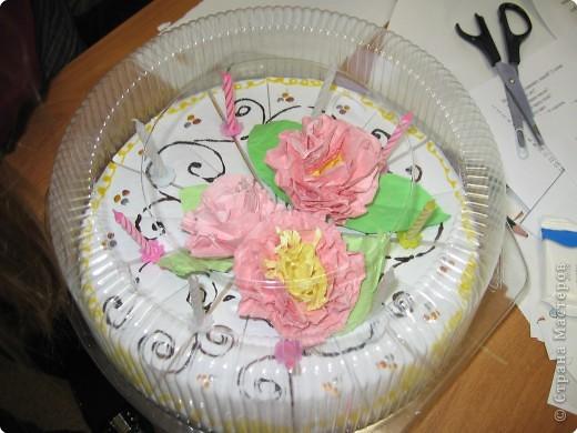 Торт праздничный новогодний фото 1