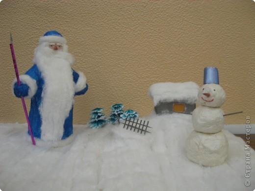 Дед Мороз и снеговик фото 1