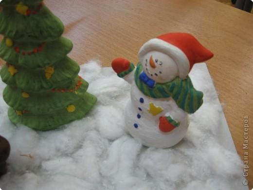 Снеговик в лесу фото 2