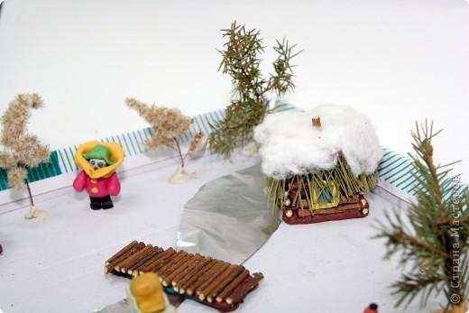 Домики выполнены из веточек деревьев. фото 2