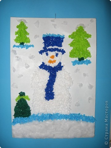 Снеговичок в лесу