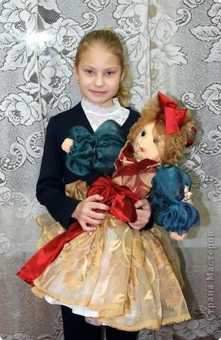 Давным-давно, когда я была еще совсем маленькой девочкой, я мечтала о красивой кукле. Мама на Новый год сшила мне в подарок чудесную куклу - Волшебницу.  фото 1