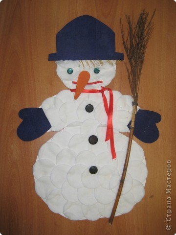 Весёлый снеговик фото 1