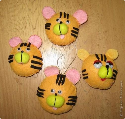 "Елочная игрушка ""Тигр"""