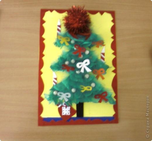 """поздравительная открытка """"Новогодняя ёлочка"""" фото 1"""