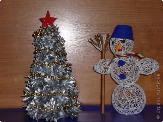 Елочка и снеговик фото 1
