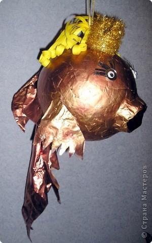 Рыбку золотую маме подарю на новогодний праздник, праздник волшебства! Она не обычная, а волшебная! фото 1