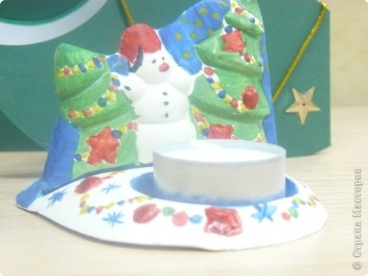 снеговик- подсвечник
