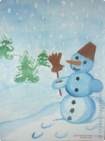Снеговик спешит на праздник фото 2