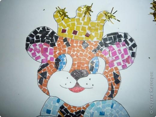 Мозаика из кусочков цветной бумаги фото 2