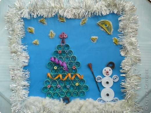 Снеговик на сказочной полянке