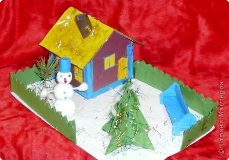 Снеговик в нашем дворе фото 1