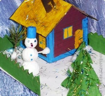 Снеговик в нашем дворе фото 2